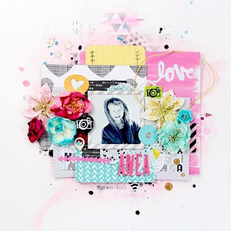 Christin aka Umenorskan scrapper: Anea - For Kreativ Scrapping Amy Tangerine Plus One American Crafts. Prima Flowers