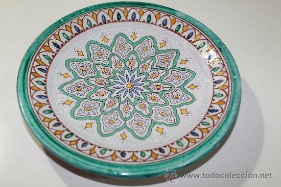 Plato decoraci n de barro pintado a mano c rdoba - Decoracion de platos ...