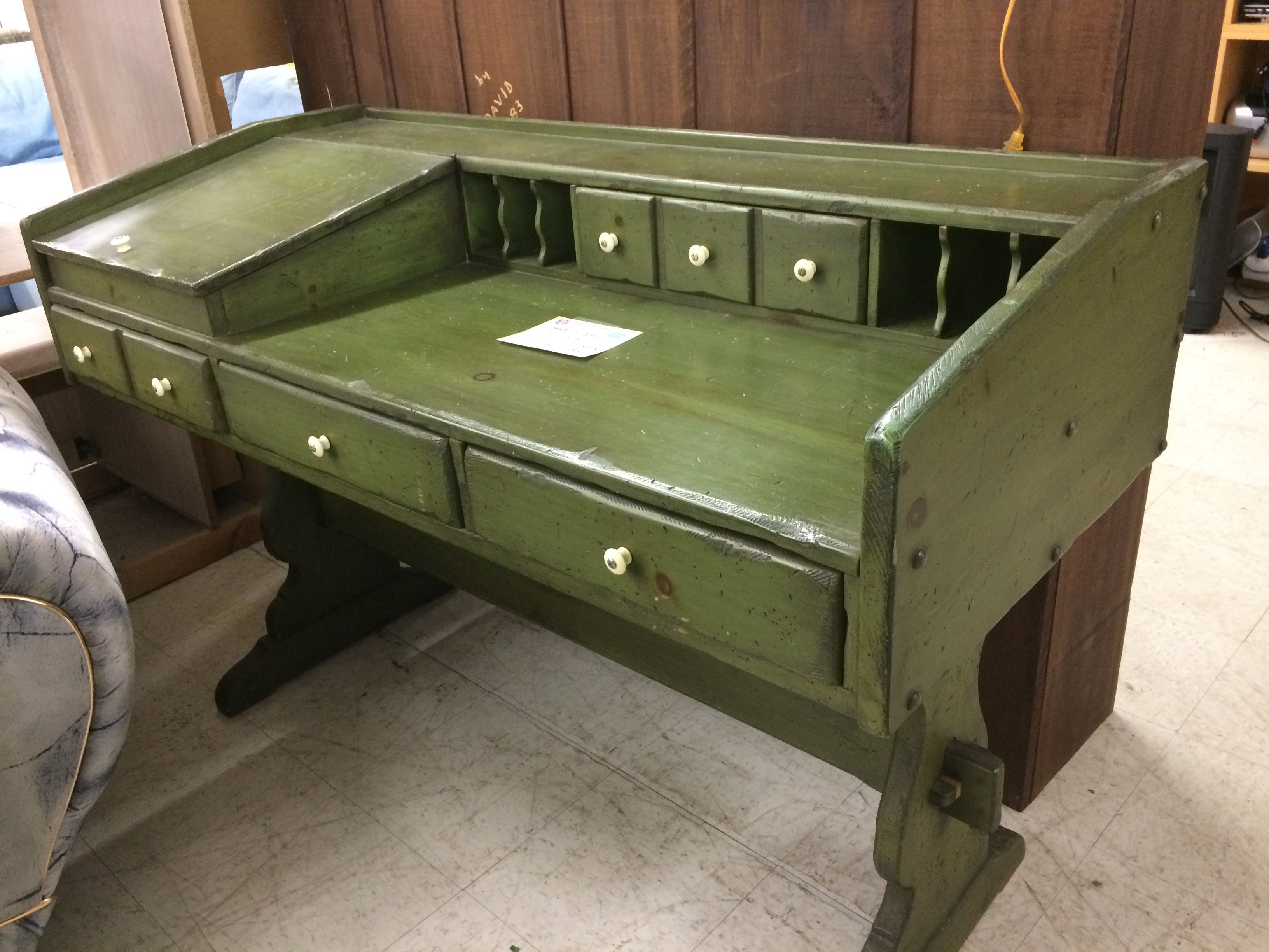 This unique and beautiful desk is looking for its forever home! Stop by 2100 North Main Street and check it out today! #FeaturedFurniture