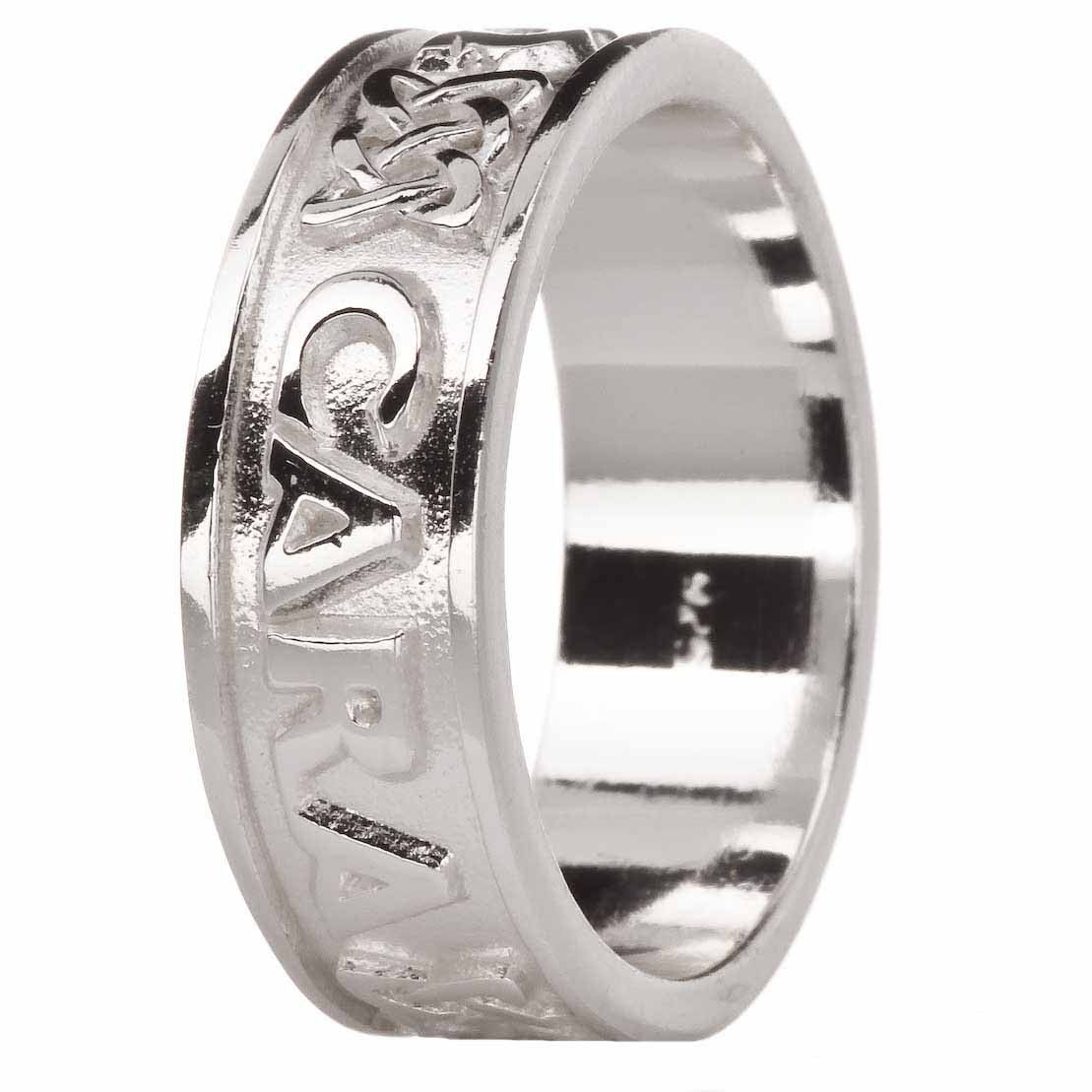 """Mens """"My Soul Mate"""" Silver Celtic Band Ring (With images"""