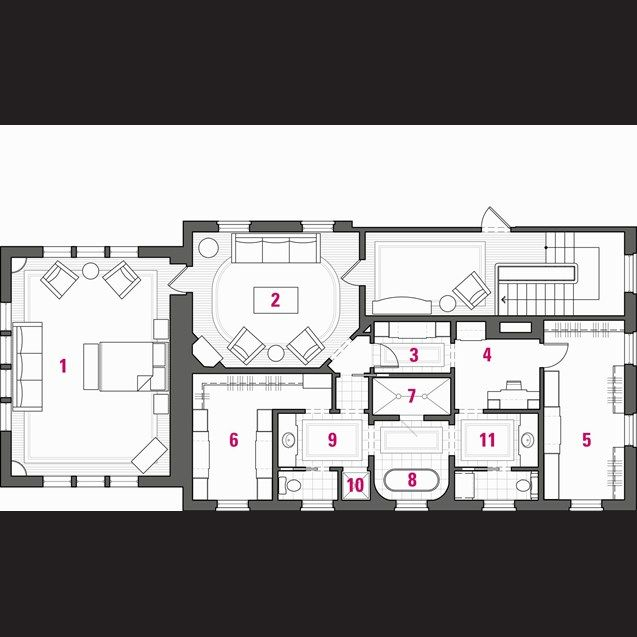 Master Suite Floor Plan, House