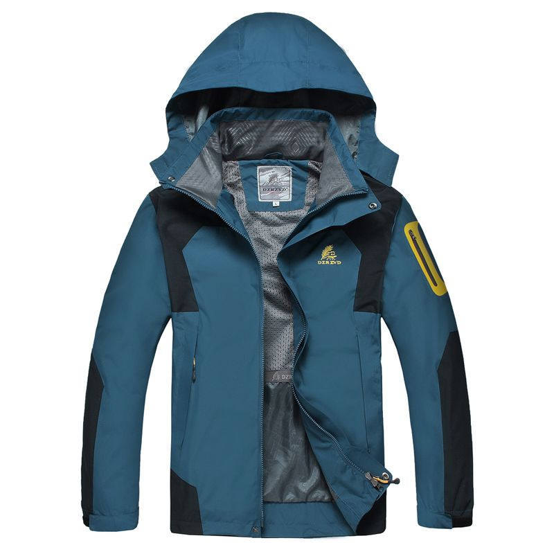 Spring 2014 Brand Salomon Outside Sport Waterproof Camping Outdoors Hood Hunting Softshell Jacket Men Clothes Coat