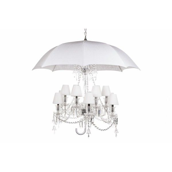 Hans Andersen Home White Umbrella Chandelier (Aluminum) (2,850 CAD) ❤ liked on Polyvore featuring home, lighting, ceiling lights, white, white lamp, aluminum shade, white chandelier, colored chandelier and light bulb shade