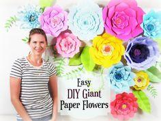 Giant Paper Flower Tutorial, Large Paper Flowers, Wedding Backdrop ...
