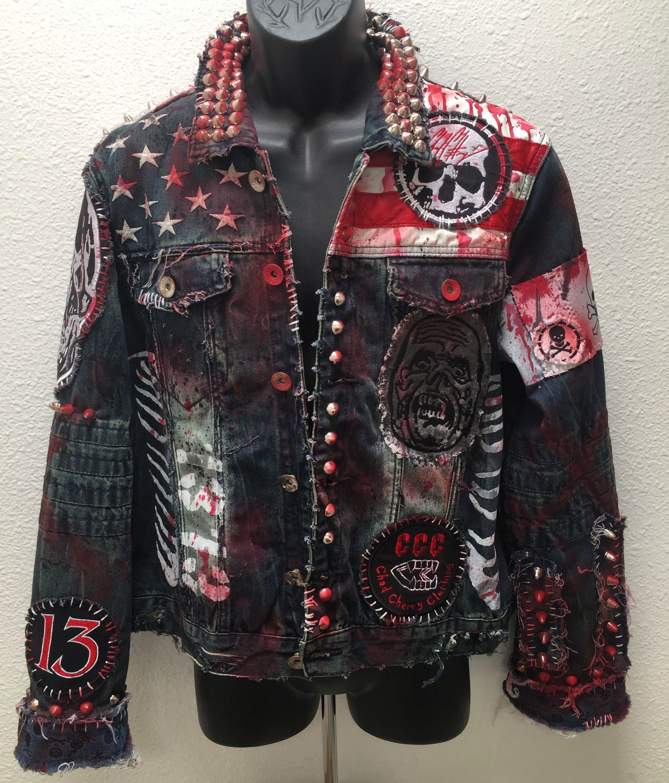 8eb83ec165226 Horror denim jackets from ChadCherryClothing.