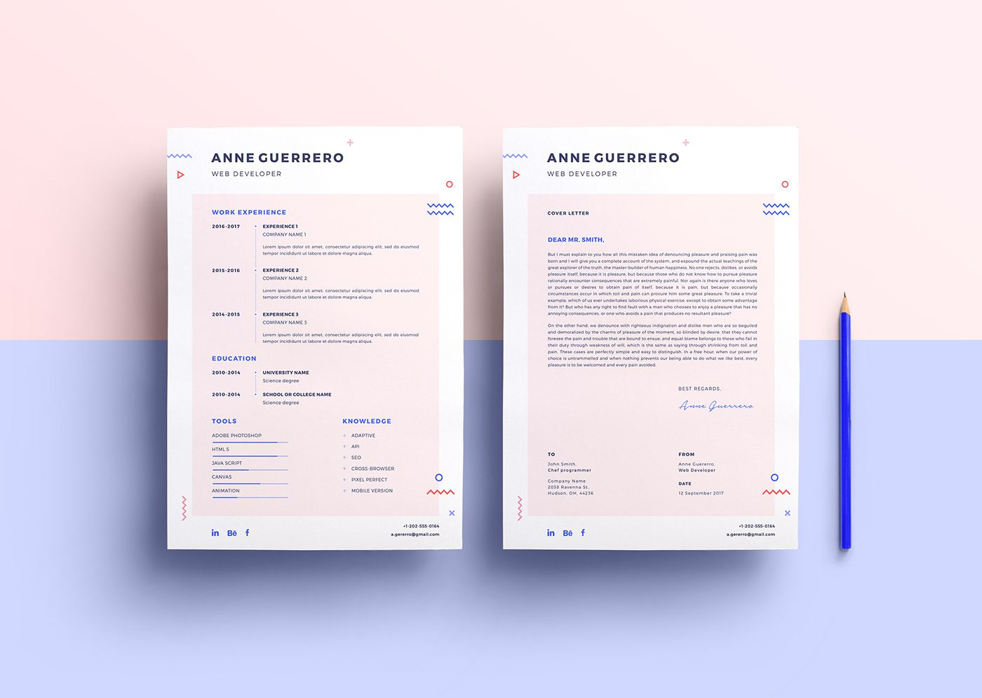 flat cv  resume  mockup download