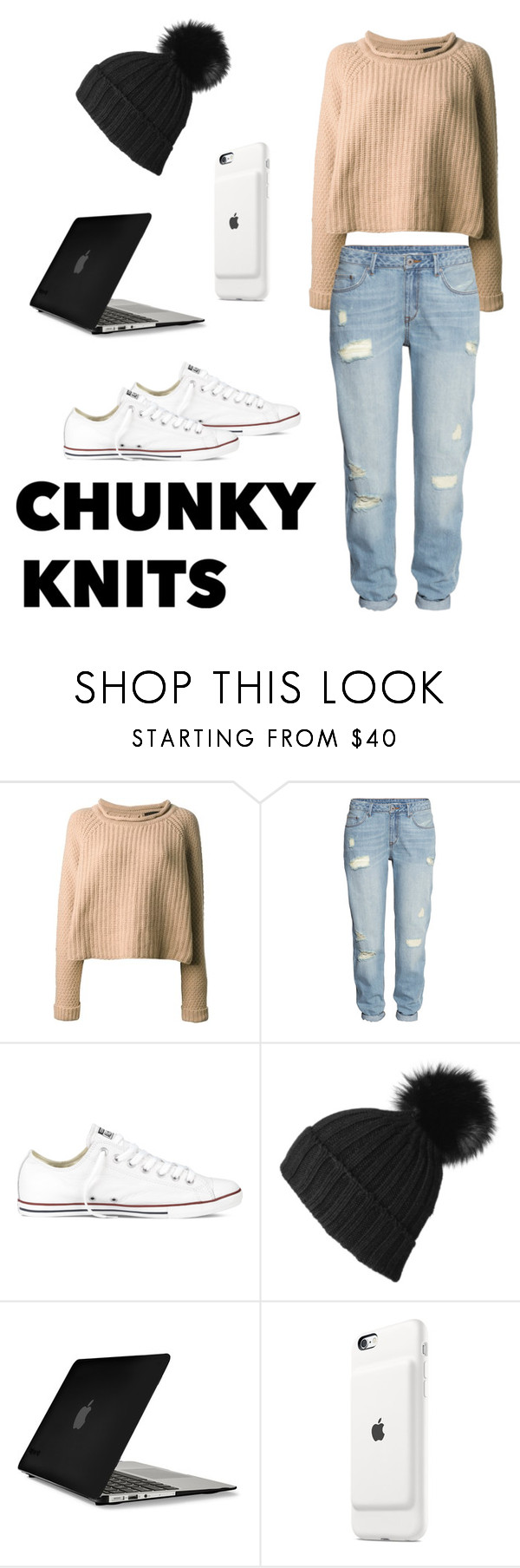"""""""#019"""" by taymartin ❤ liked on Polyvore featuring Jo No Fui, H&M, Converse, Black and Speck"""