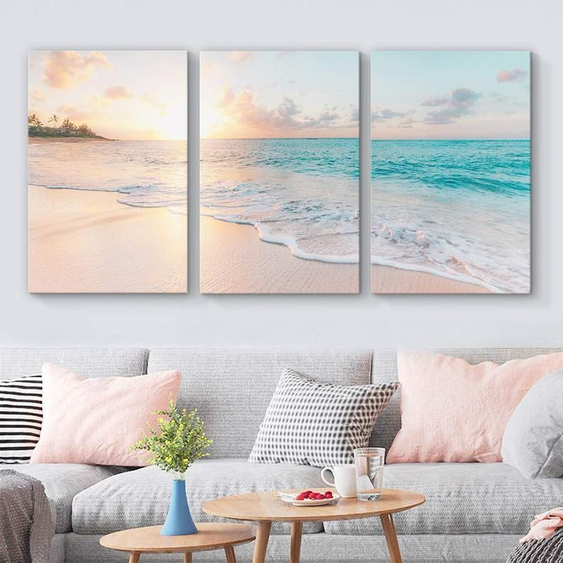 Premium Quality Canvashigh Definition Modern Art Workprinted On High Quality Canvasmade In And Shipp In 2020 Beach Wall Decor Beach Living Room Artwork For Living Room