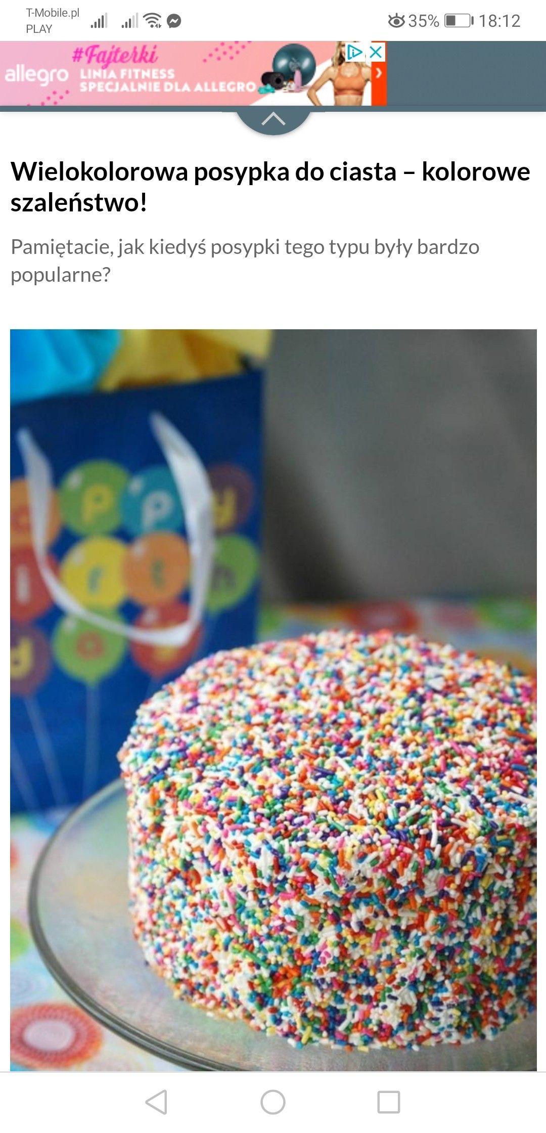 Tort W Posypce Desserts Cake Sprinkles