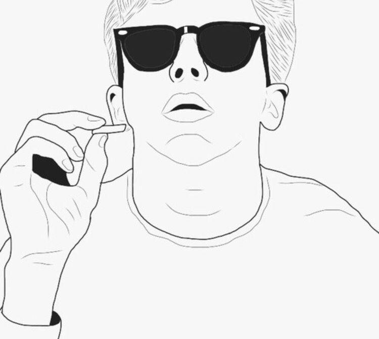 Tumblr Outline Boy