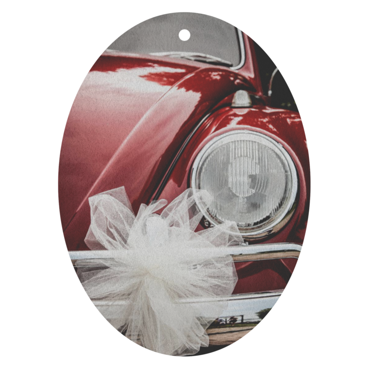 Red VW Bug With Bow Air Freshener 3 Pack Choice of 13