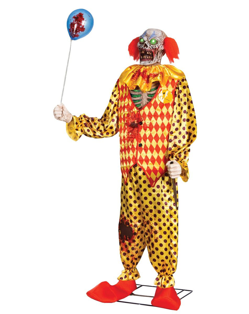 zombie clown 6 foot animated prop this is effing creepy coulrophobia spirit animated halloween - Spirit Halloween Props