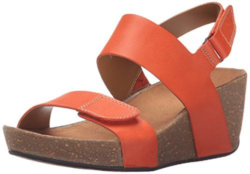 bf8e42346753 Clarks Womens Auriel Fin Wedge Sandal     Click image for more details.  (This is an Amazon affiliate link)