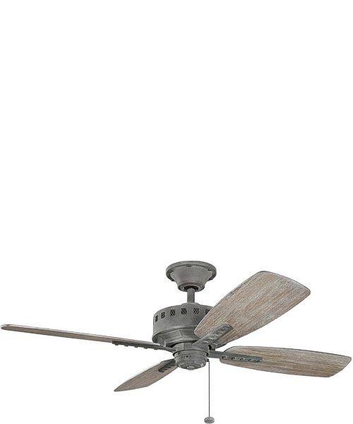 eads weathered zinc ceiling fan kichler - Kichler Fans