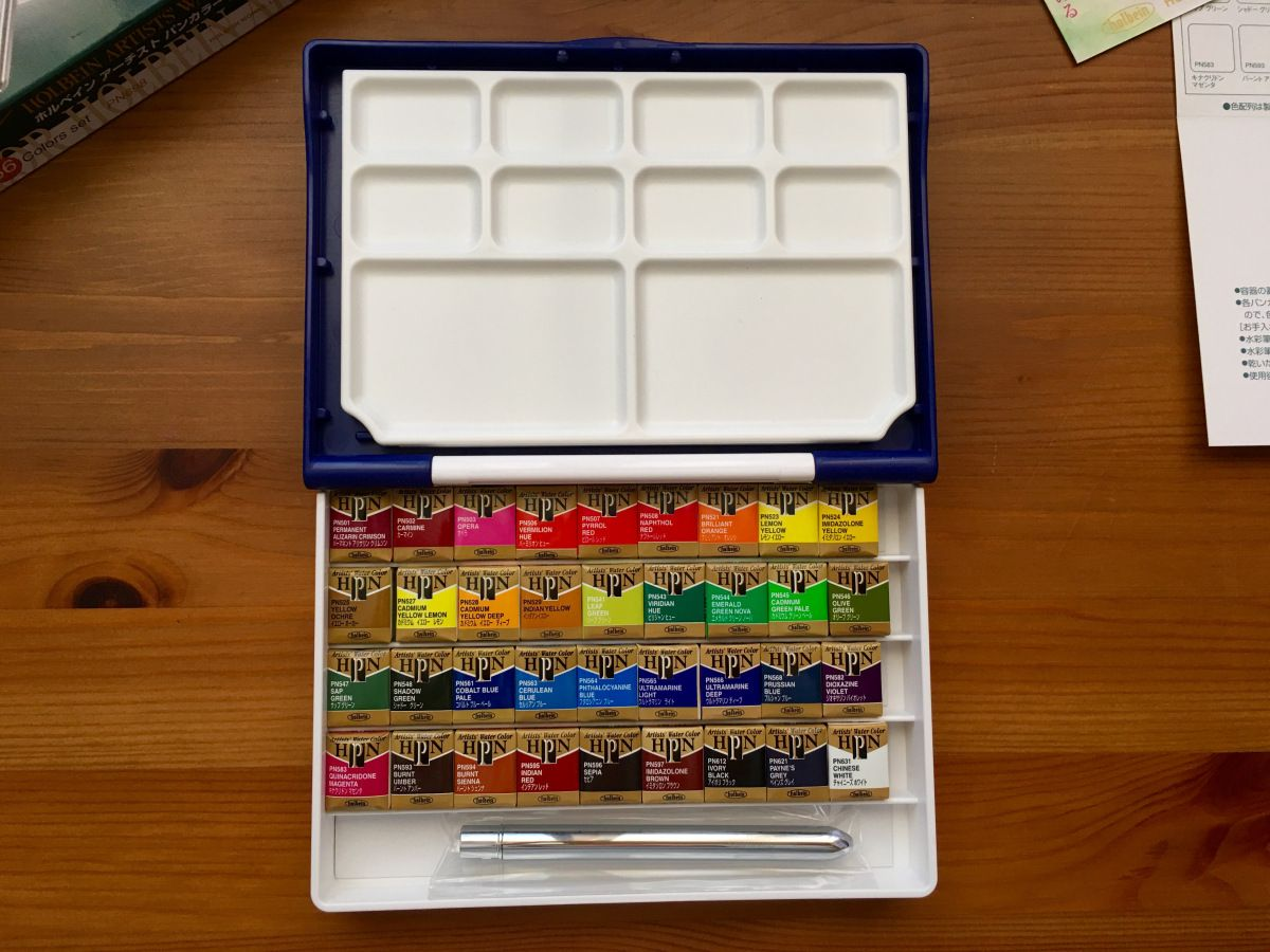 Doodlewash Review Holbein Watercolors Watercolor Old Boxes Box