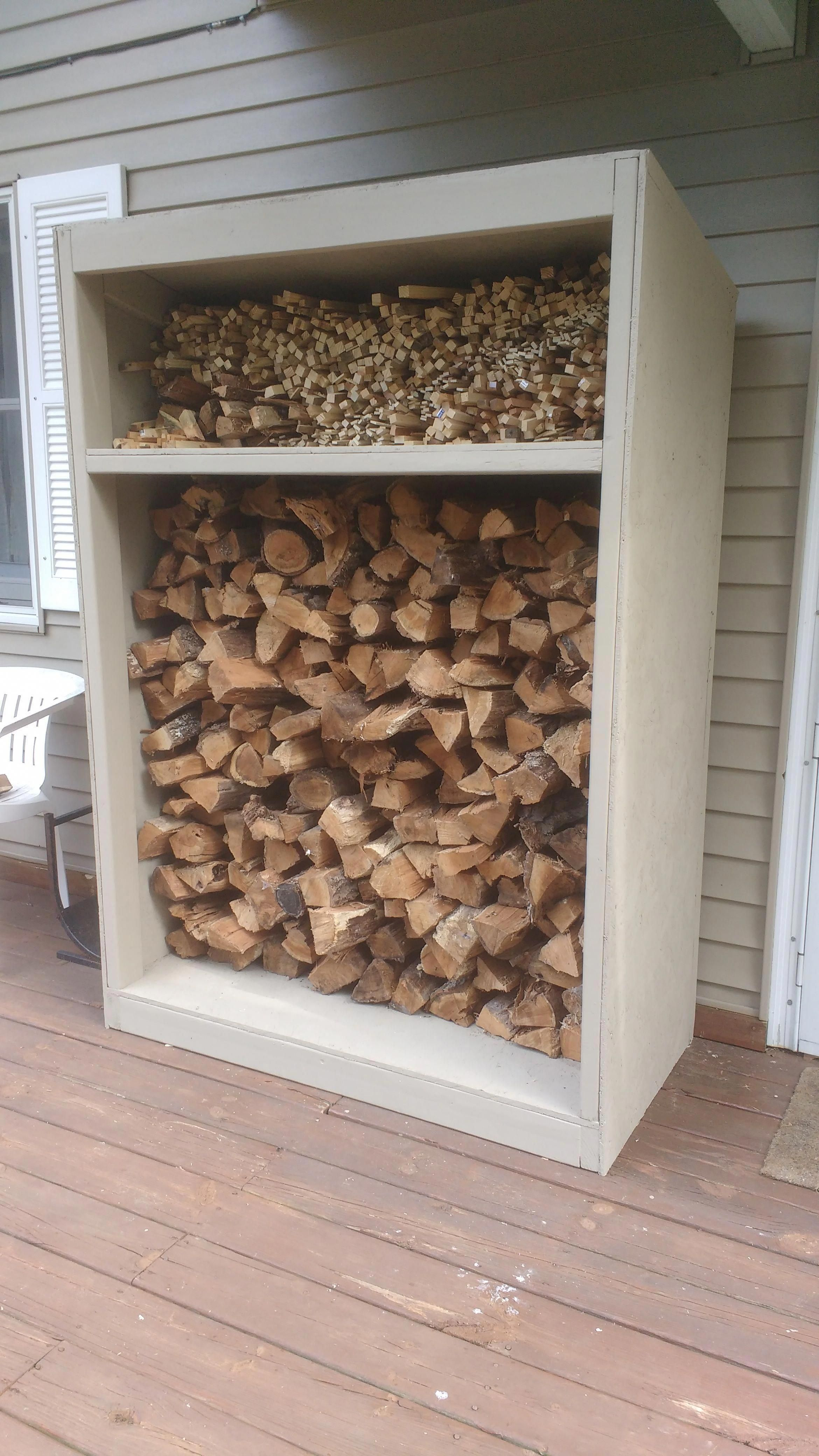 I made a wood shed for the
