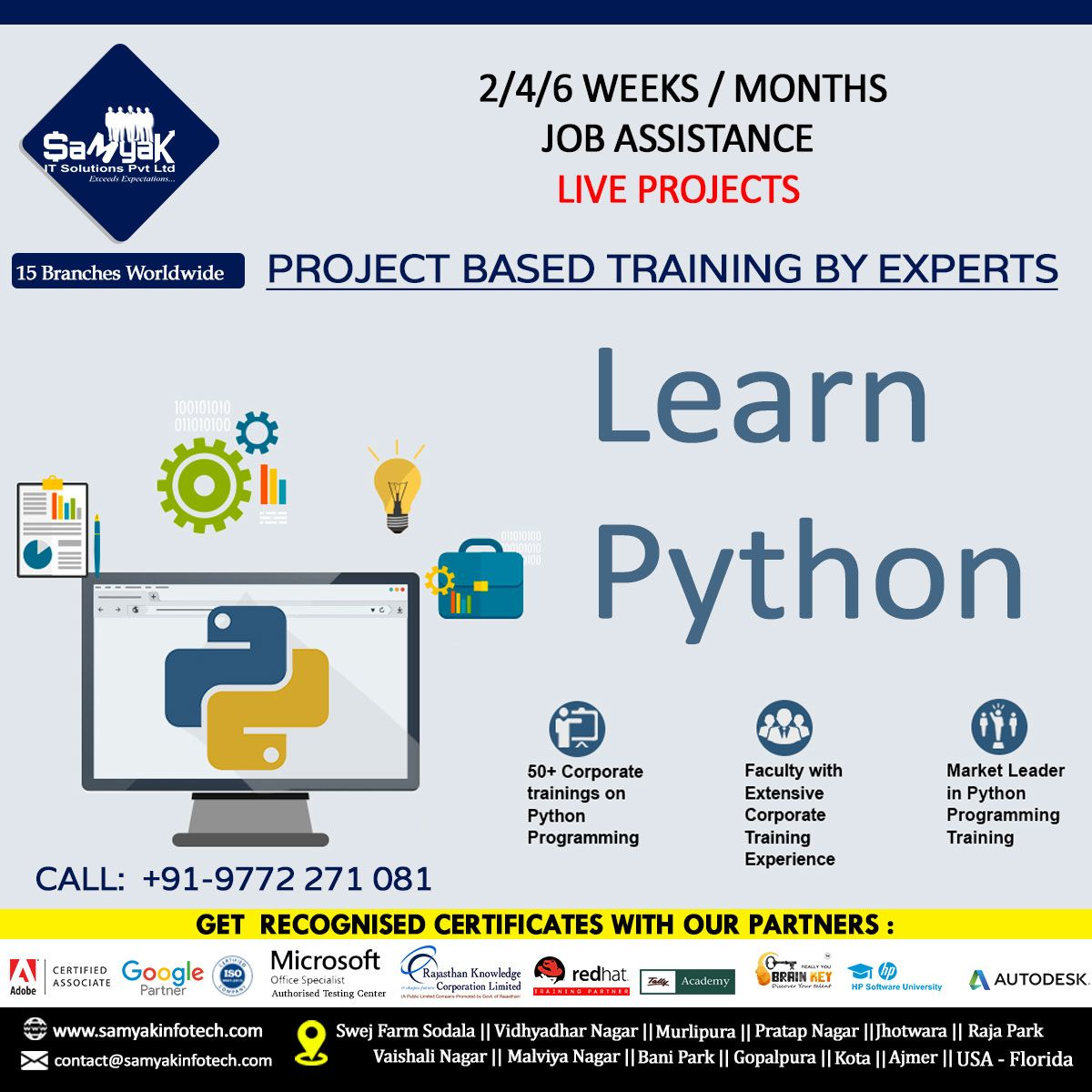 Learn Python Programming From Experts In Jaipur Ajmer Kota Corporate Training Python Programming Computer Class