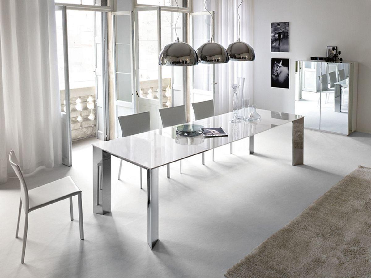 Toll Cattelan Italia Ausziehbarer Esstisch Brera Weißglas Kaufen Im Borono  Online Shop