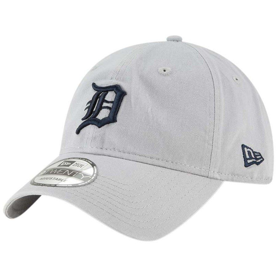 87beaf462b8 Men s Detroit Tigers New Era Gray Core Classic Twill 9TWENTY Adjustable Hat