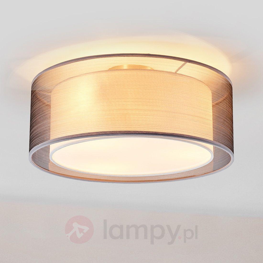 Zimmer string leuchtet ideen materiałowa lampa sufitowa nica szara  lampy  pinterest