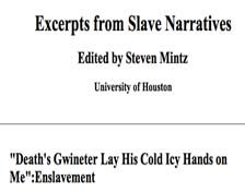 Excerpts from Slave Narratives