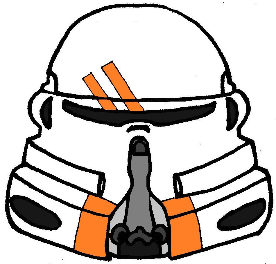 Clone Trooper Helmet 2nd Airborne Company | Clone Wars TV Show ...