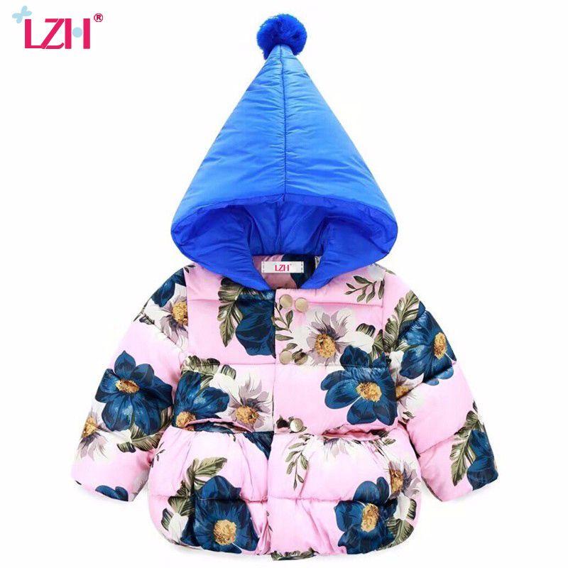 68acf3e0e LZH 2017 Baby Girls Jacket For Infant Girls Winter Coat Hooded ...