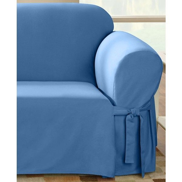 Sure Fit Duck Loveseat Slipcover $60 ❤ liked on Polyvore