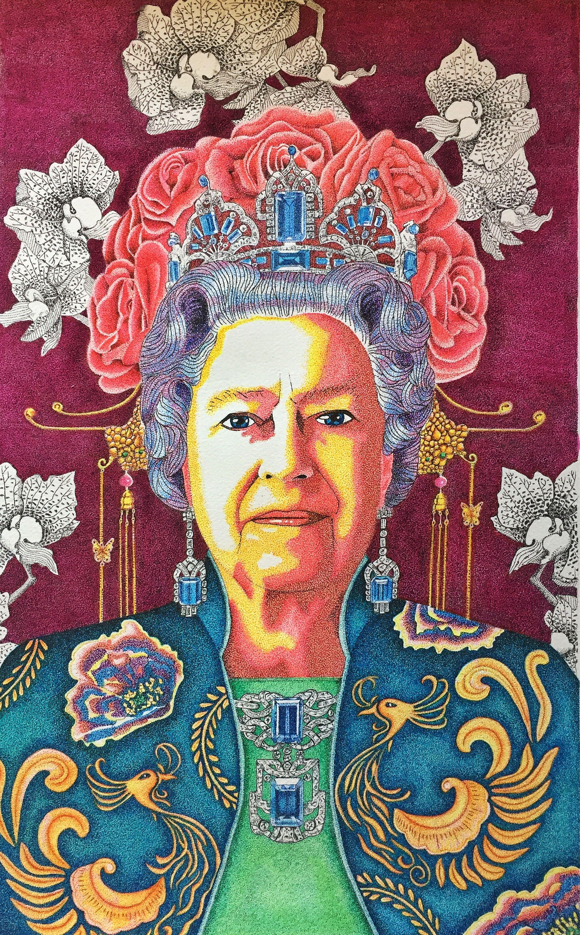 Imperial Monarch Pointillism Stippling Queen Ink Queen