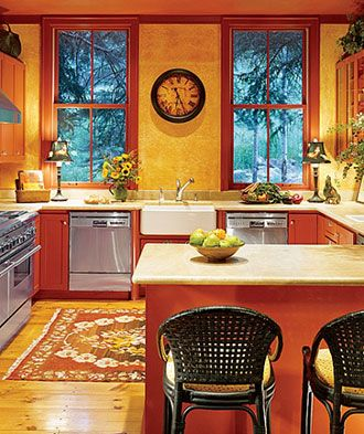 Red And Gold Kitchen Ideas - Creepingthyme.info