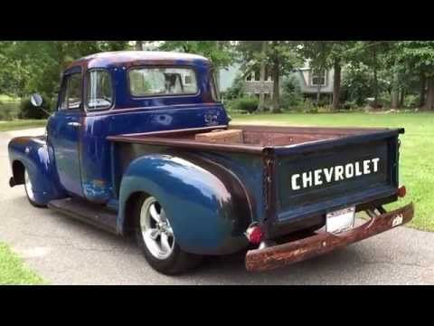 1954 Chevy 5 Window Pickup Custom Build Clear Patina Look 406 Stroker For Sale 706 831 1899 Youtube 1951 Chevy Truck Chevy Trucks 1954 Chevy Truck
