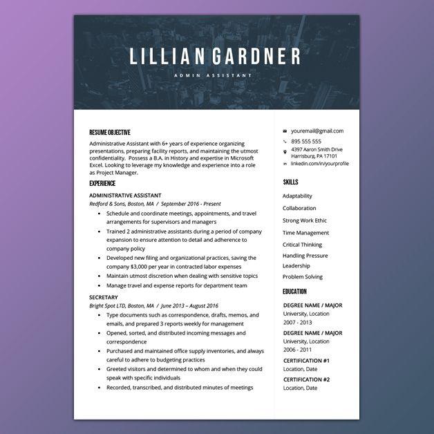 pin by resume genius on resume templates