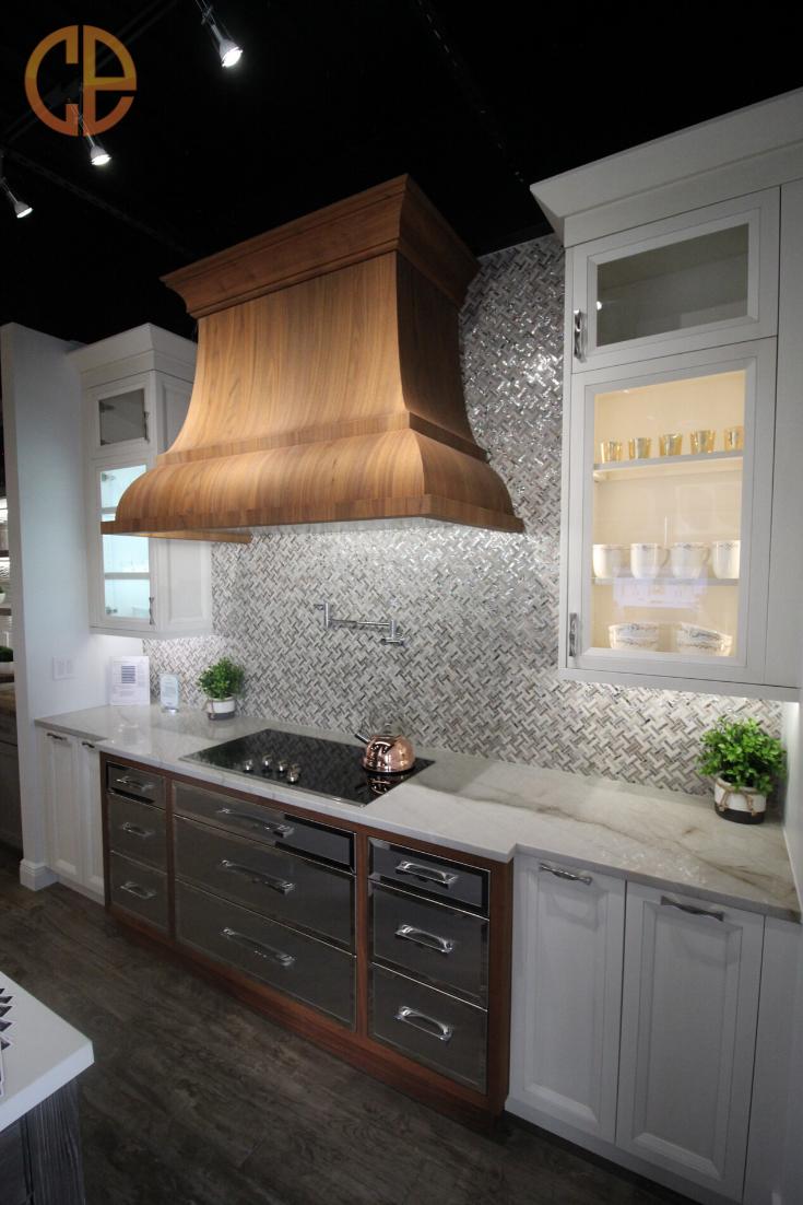 Walnut Velvet Kitchen Custom Cabinetry Quartzite Countertops Countertop Materials
