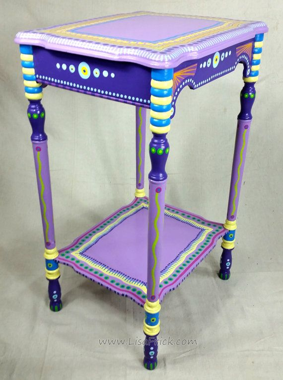 Sold Sample Of Custom Work Vintage Side Table Hand