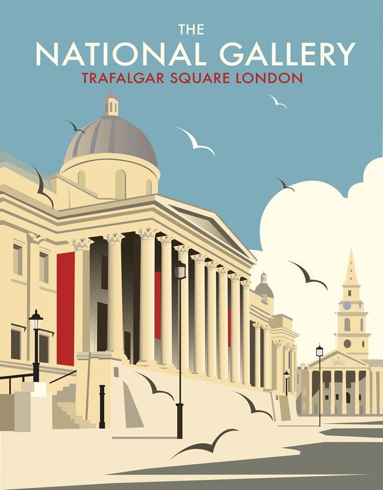 the national gallery trafalgar square london england by. Black Bedroom Furniture Sets. Home Design Ideas