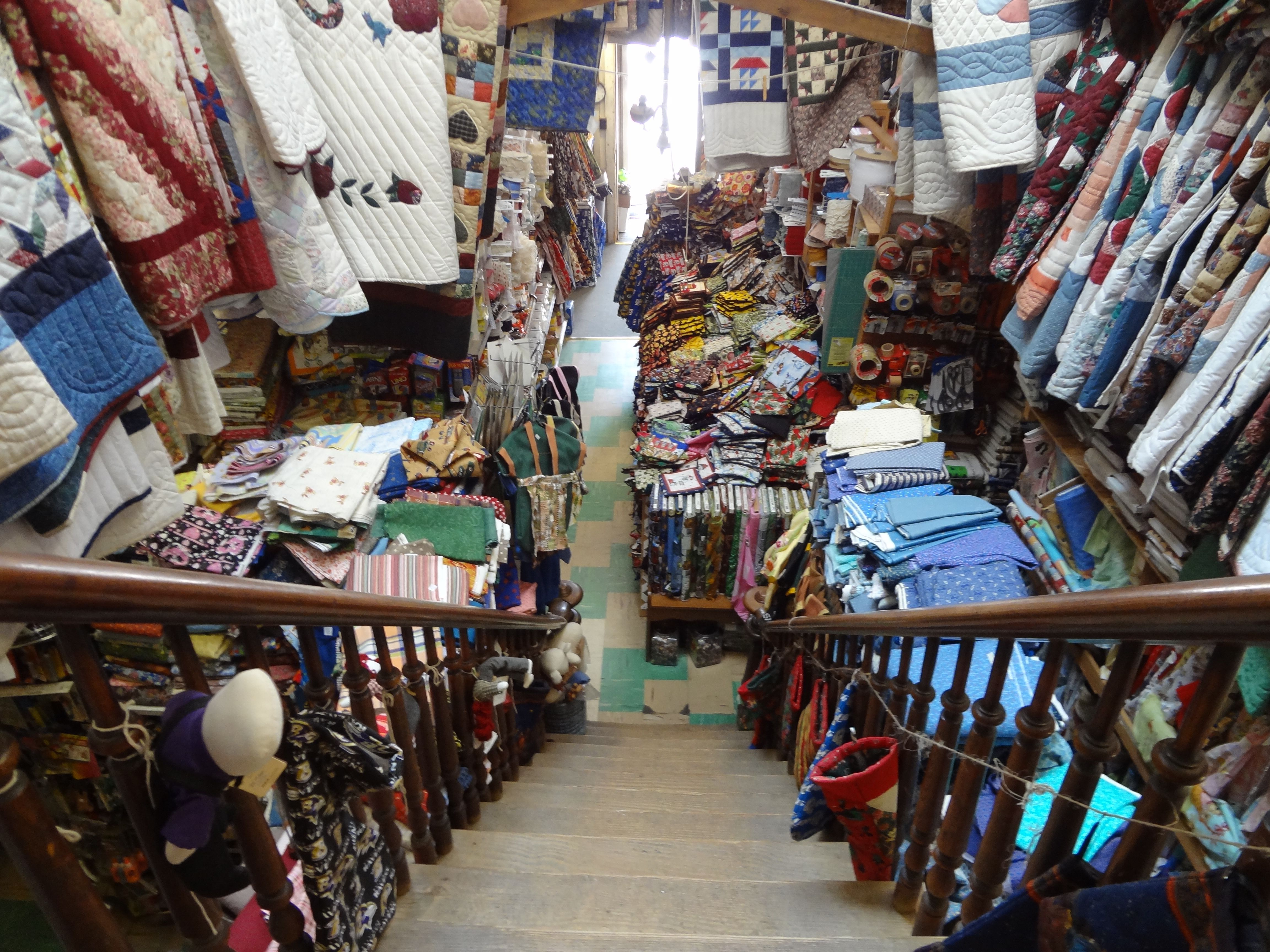 This Is Obies In Goodville Pa Its Near Lancaster Fabric Stacked