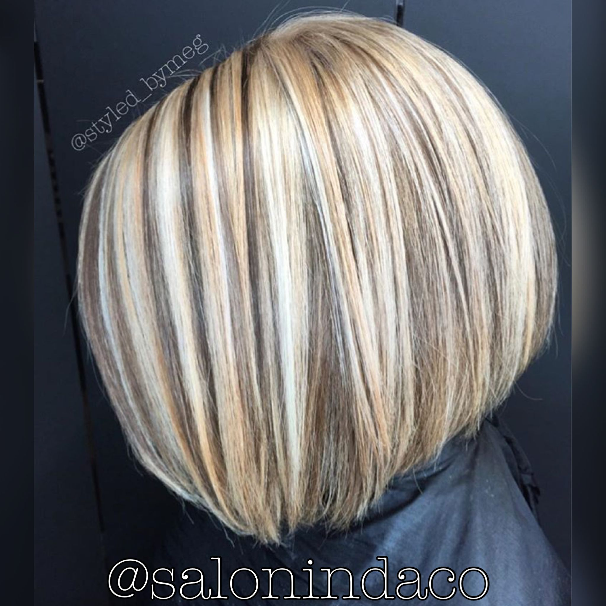 Dimensional chocolate coffee caramel lowlights with ash icy blonde