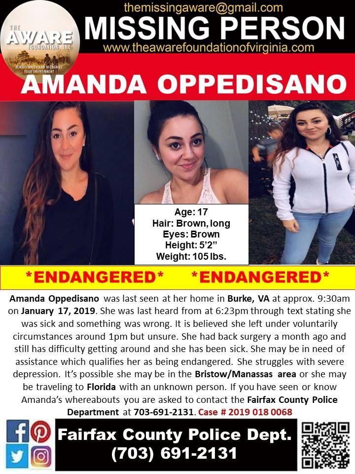 Find missing amanda oppedisano happy update found