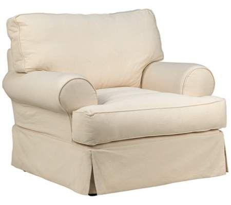 Rachel Classic Natural Slipcover Armchair | 55DowningStreet.com
