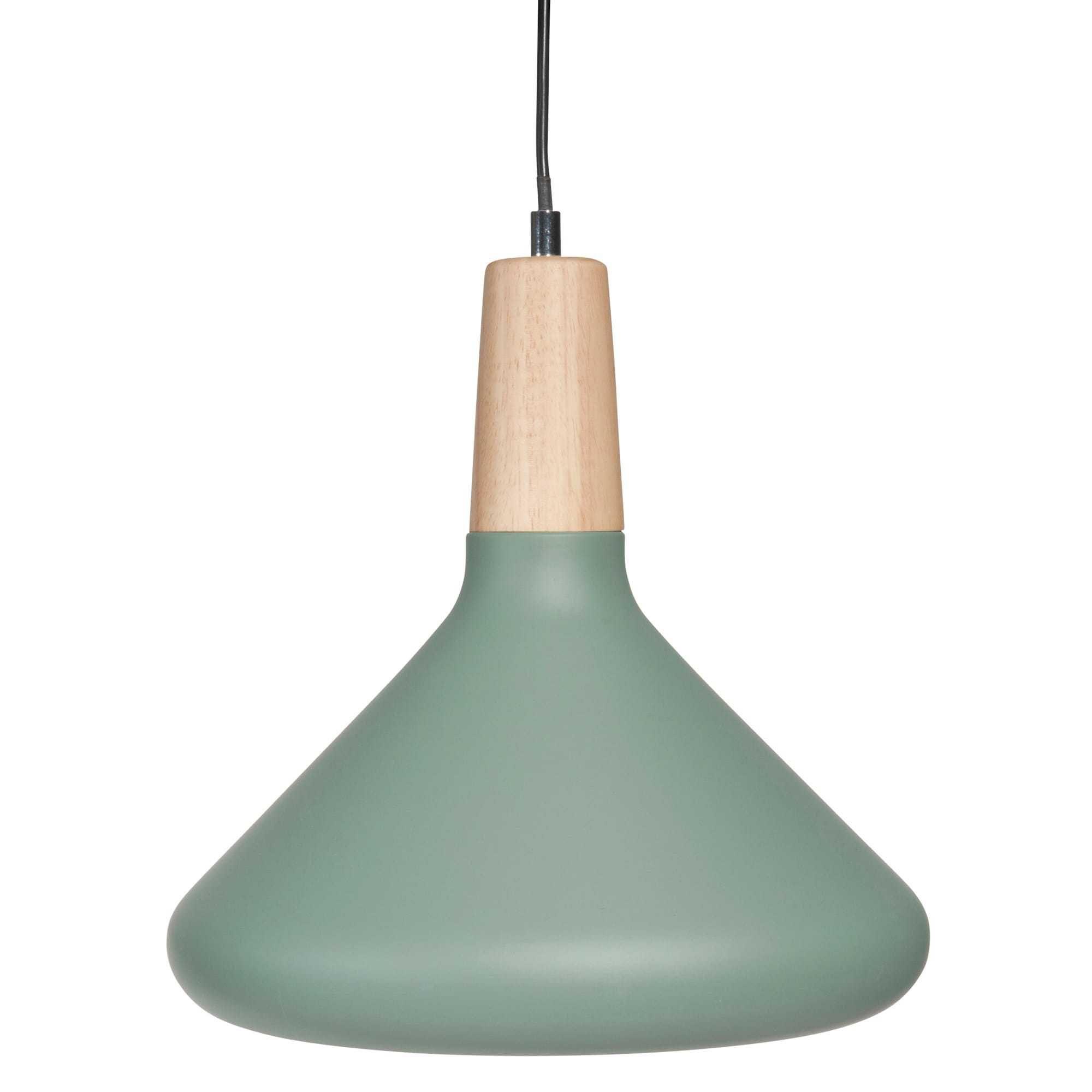 Lampada A Sospensione Verde In Metallo D 30 Cm HELGA