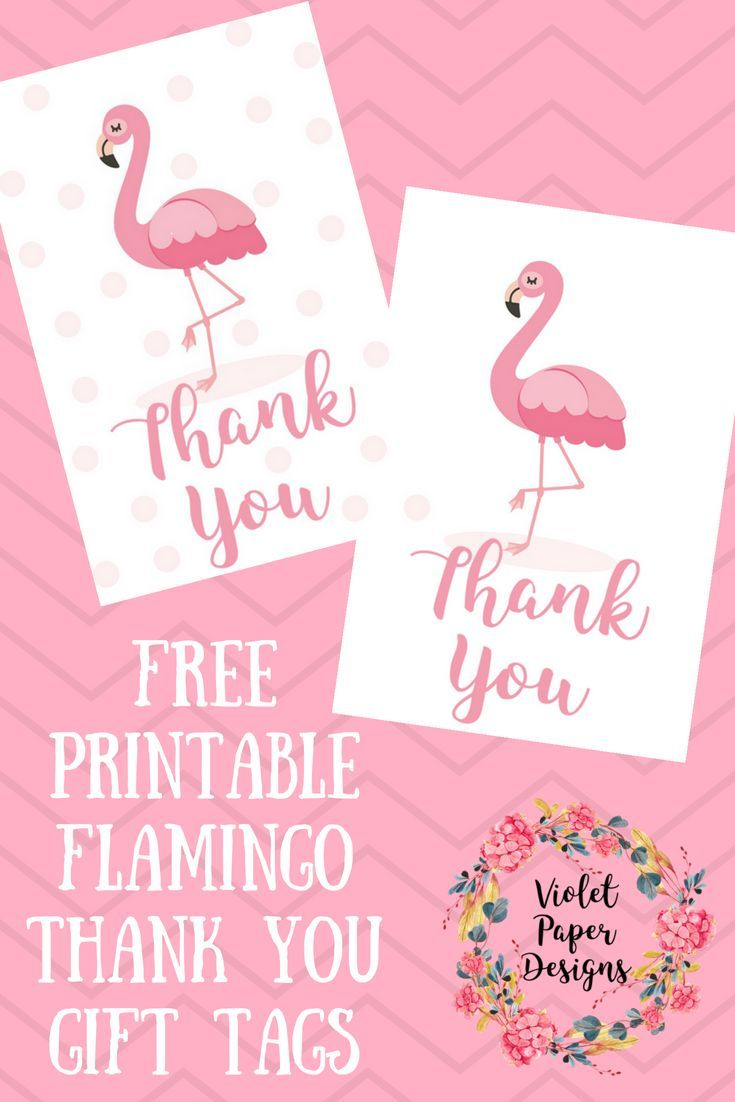 Free Printable For 12 Months Of Pre Planned Date Nights: Free Printable Flamingo Thank You Gift Tags