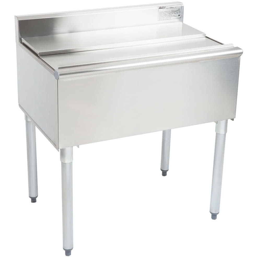 Stainless Steel Commercial Back Bar Ice Bin 42 Wide 16 Deep