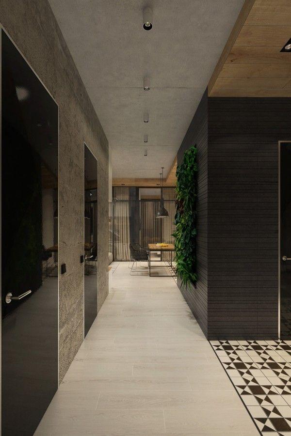 Nice concrete finish studio apartments ideas inspiration