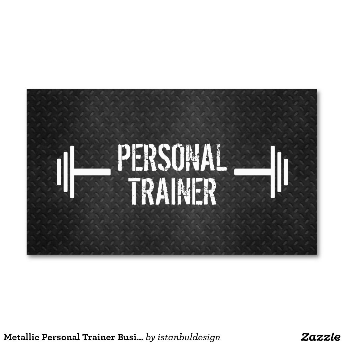 Metallic Personal Trainer Business Card