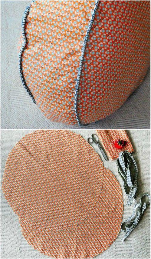 Super Easy DIY Colorful Floor Cushion