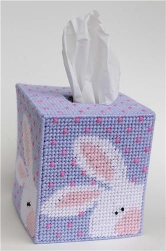 Peeking Easter Bunny Tissue Topper Plastic Canvas Patterns Plastic Canvas Tissue Boxes Plastic Canvas Crafts
