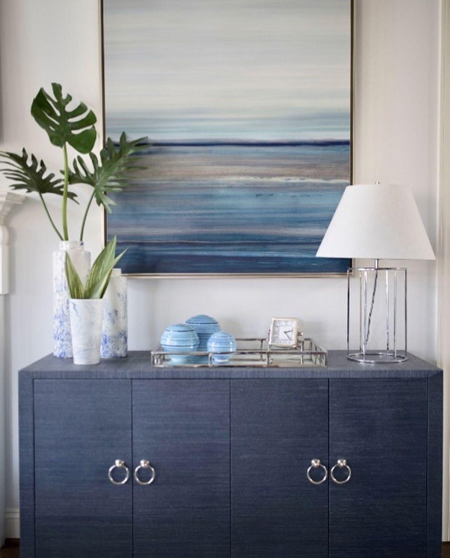 Meredith 4 Door Cabinet Navy Blue Home Furniture Storage Shelves