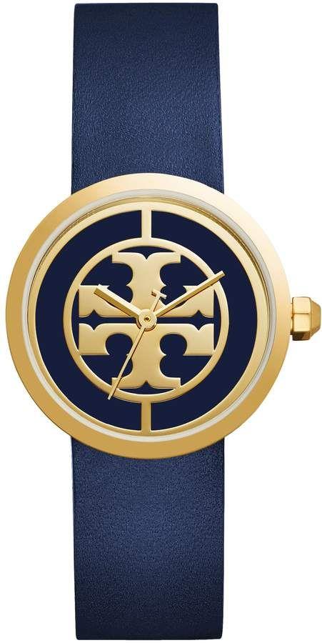 8a6c33752 Women's Tory Burch Reva Logo Dial Leather Strap Watch, 36Mm ...