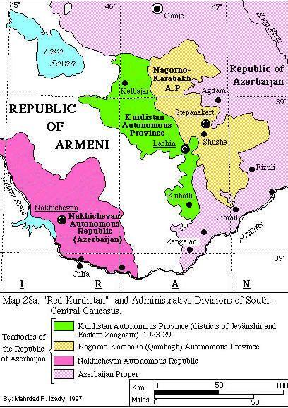 الحكم الذاتي في كردستان الحمراء 1923 1929 Political Map Map Kurdistan