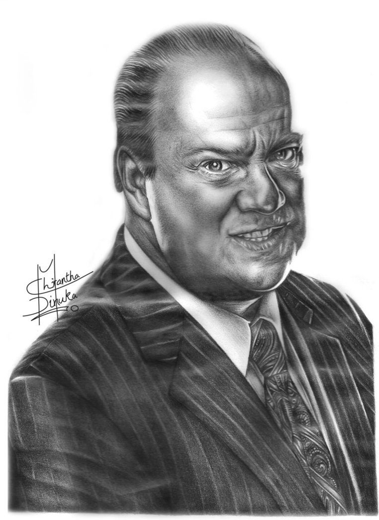 ECW/ WWE Paul Heyman Pencil Drawing by Chirantha | Coloring Pages ...